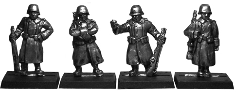 German Sentries with Greatcoats